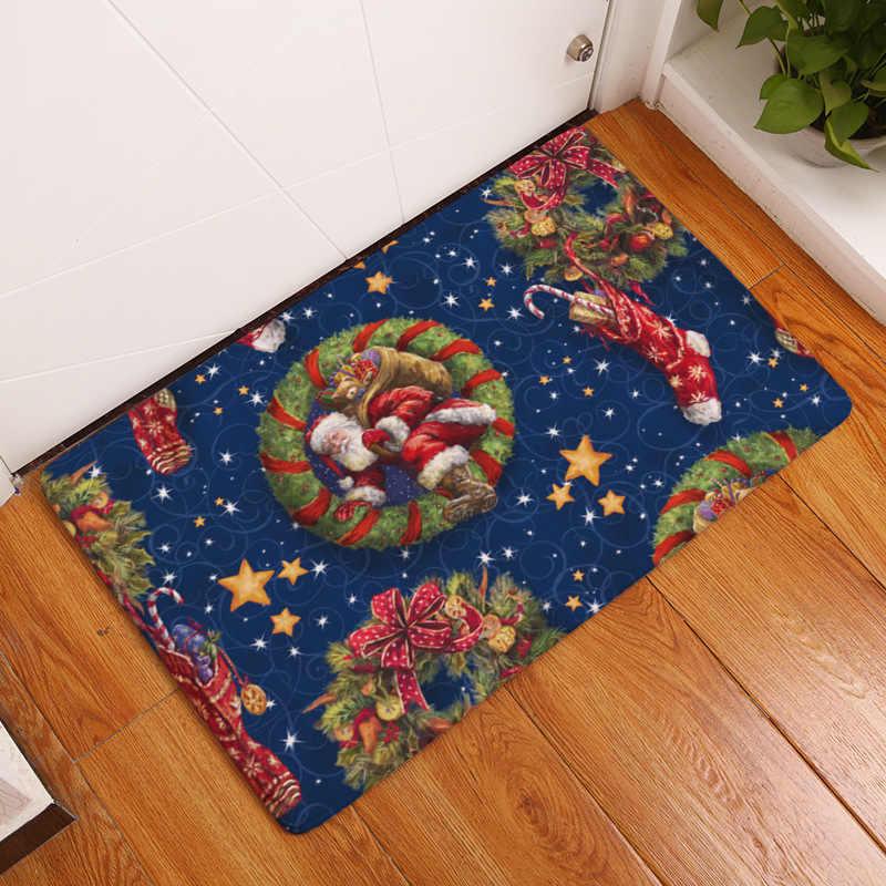 Christmas Carpet Runner.Cammitever Christmas Door Mat Hallway Festival Aisle Runner Rug Non Slip Hallway Stair Kitchen Runne Non Skid Area Rug