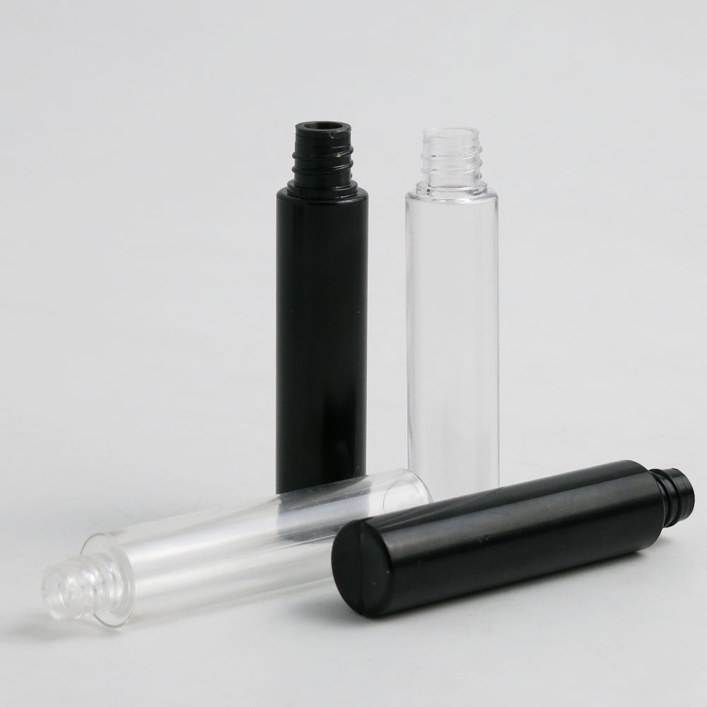 Купить с кэшбэком 20 x10ml Empty Plastic Portable Bottle Eyelash Tube Mascara Cream Vial/Container Fashionable with Silver/Black Lid Drop Shipping