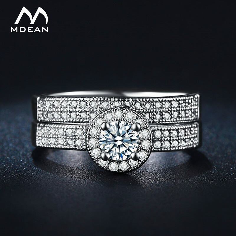 MDEAN Jewelry Ring sets White...