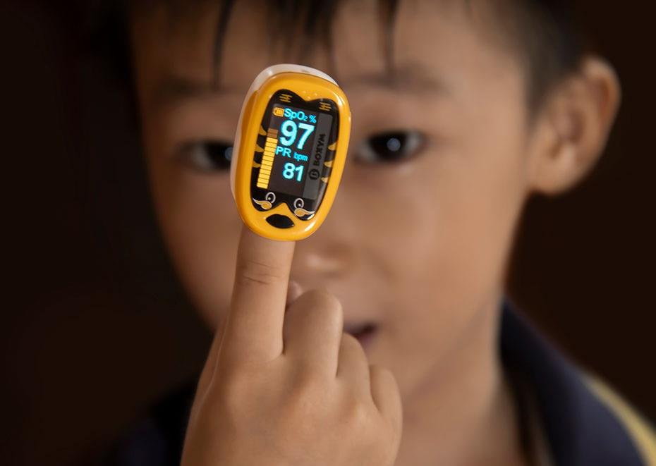 Oxímetro pediatra do dedo do bebê oximétrico