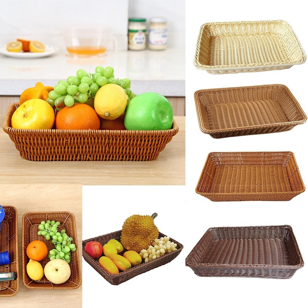 S M L Snacks Nuts Rattan Fruit Basket