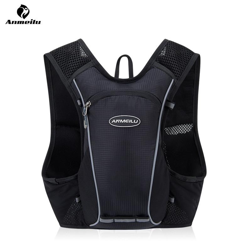 Lightweight 5L Running Bag Hydration Backpack Marathon Hydration Vest Pack 2L Water Bag Cycling Bag Sport Backpack, No Water Bag