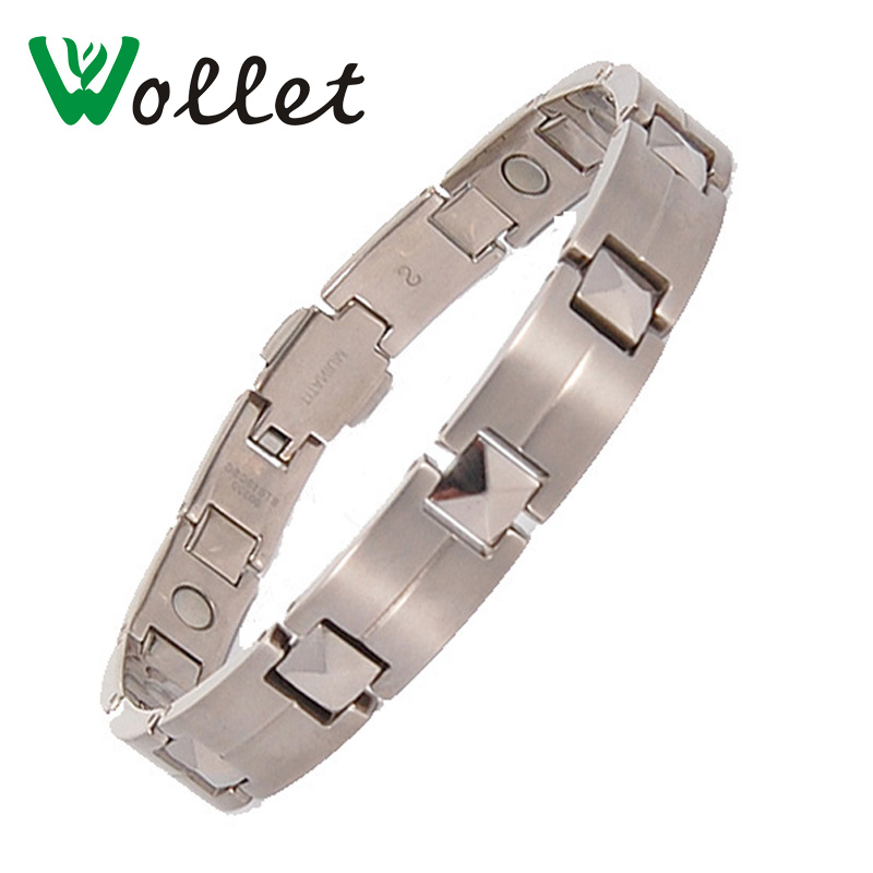 Wollet Jewelry Energy Men Women 's 게르마늄 Pure Titanium Bracelet Power Bracelet Energe 팔찌 우정 Antifatigue