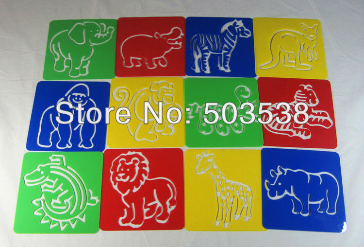 zoo animal stencilkids templateearly educational toys birthday - Free Kids Stencils