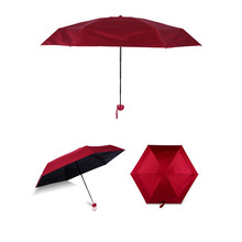 One Size Mini Umbrella Rain Women Pongee Folding Sunny And Rainy