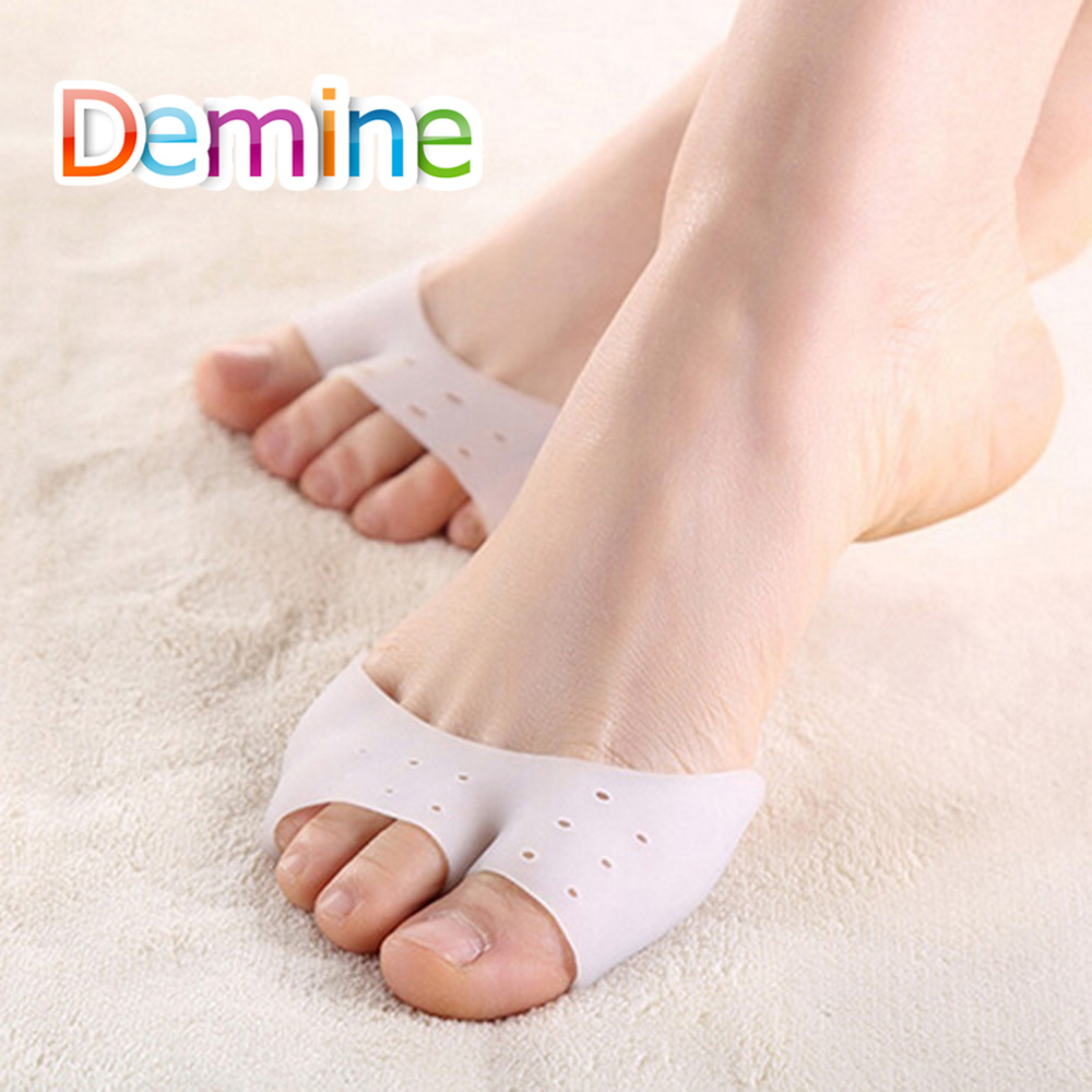Demine Silicone Hallux Valgus Orthotic Insoles Toes Separator Toe Correction Cushion Forefoot Heel Apply To Bunonia Inserts Pads