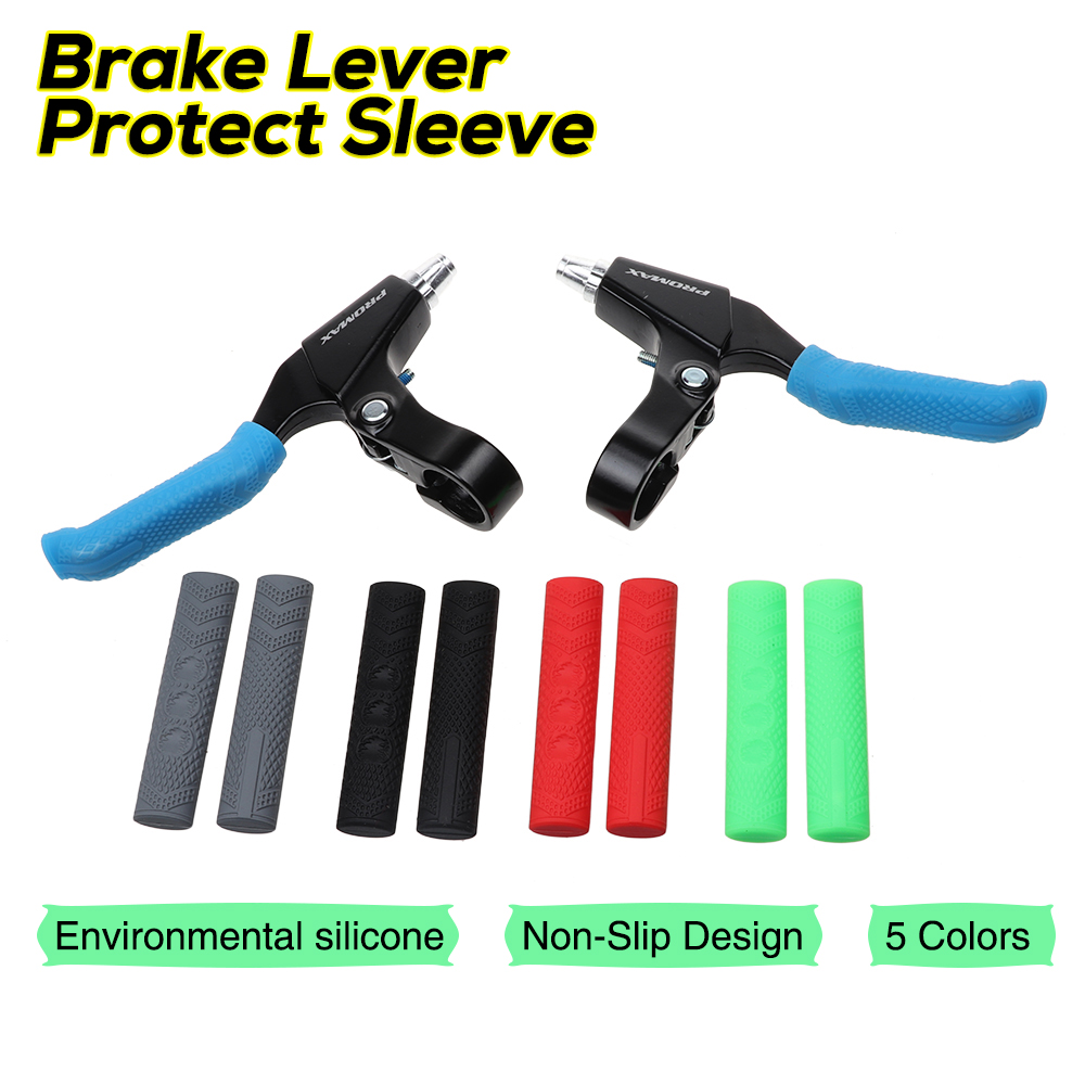 1 Pair Bicycle Brake Lever Grip Protector Cover Three Finger Sleeves