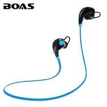 Boas bluetooth 4.1 auriculares auriculares inalámbricos auriculares deportivos corriendo auriculares en la oreja con micrófono para iphone xiaomi samsung