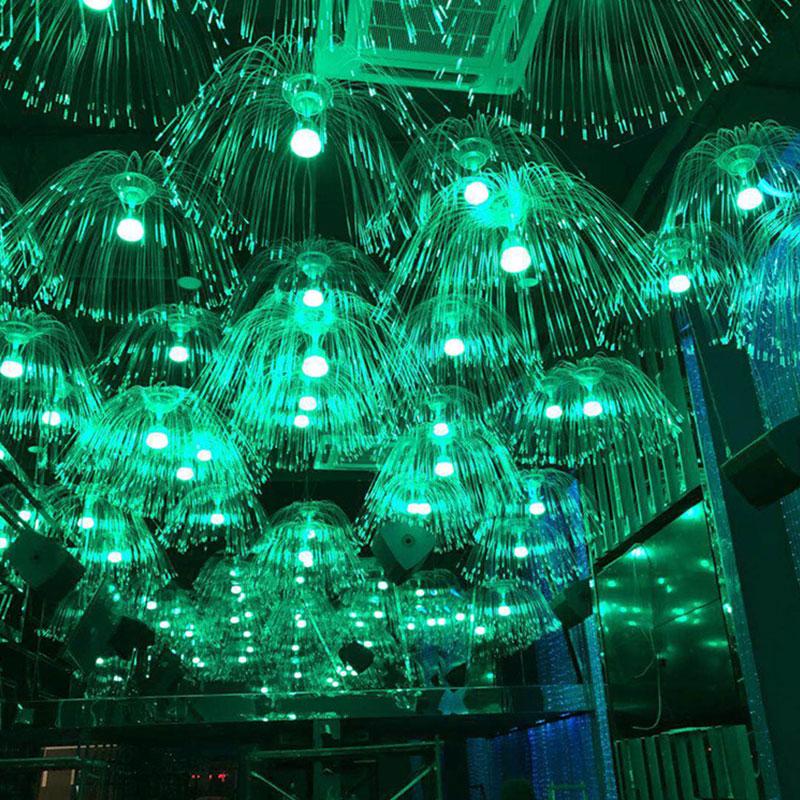 Color LED Night Light Jellyfish Illumination Lamp Led Optical Fiber Night Light 220V Novelty Baby Sleep Gift For Kids Toy #