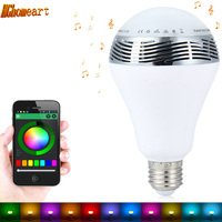 HGhomeart Cellular Phone APP Intelligent 7 Color Change E27 6W RGB LED Bulbs Bluetooth Smart Lighting Lamp Speaker Lights Bulb