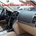 19 PCS 3D Silver Interior da Placa Do Painel de Cobertura Para Toyota Land Cruiser 200 Acessórios FJ200 2008-2015