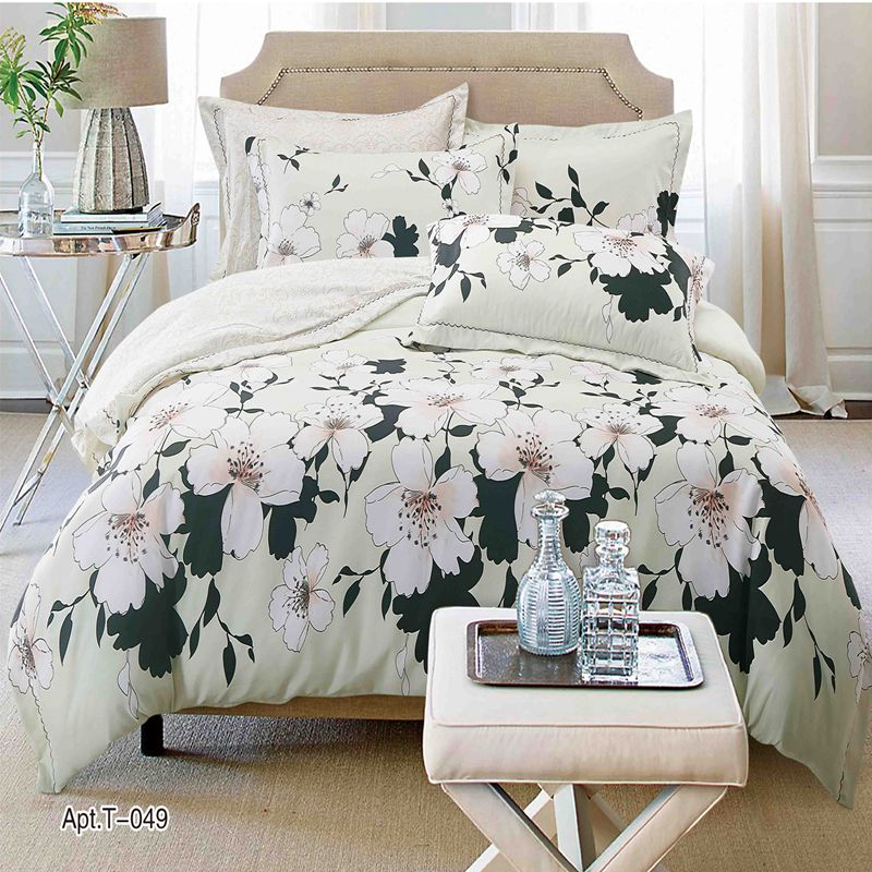 Fashion Brand Satin Premium Bedding Tencel Cotton Comfort Bedding Set Home wedding garden continental bedding set Printed bedspr