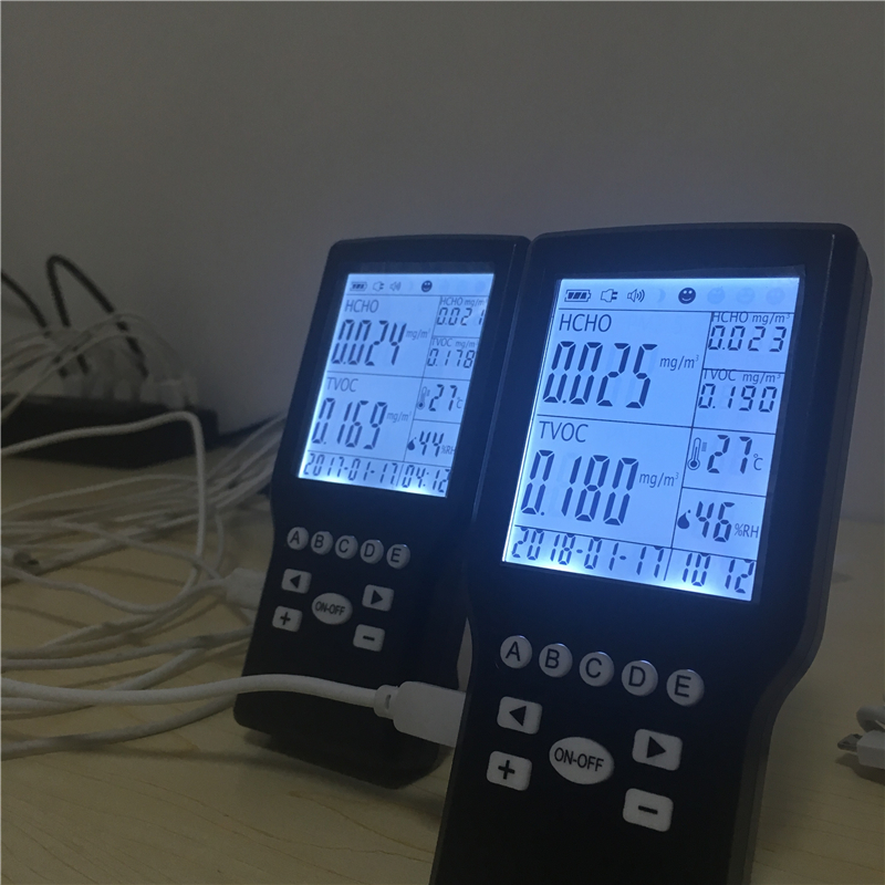 Indoor use formaldehyde TVOC IAQ quality monitor with CE ROSH certificate ce rohs standard formaldehyde monitor with temper and rh