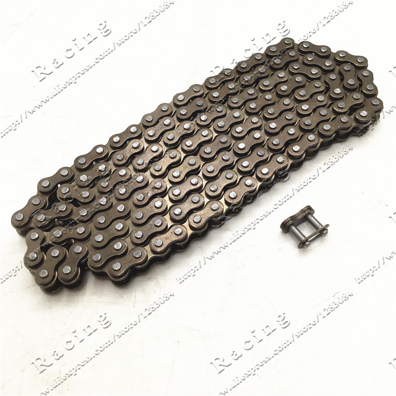 25H chain with Spare Master Link 47cc 49cc 2 Stroke Engine ATV Quad Go Kart Dirt Pocket Mini Motor Bike Motorcycle section 144 116 460mm t8f chain links with spare master link for 47cc 49cc 2 stroke dirt pocket mini moto cross bike atv quad go kart