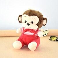 WVW zachte pluche grote mond bruin aap speelgoed dier pop gevuld gibbon aap gorilla creatieve verjaardagscadeau voor kinderen