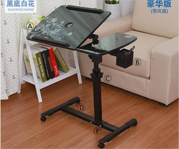 360 Degrees Rotation font b Laptop b font Desk Movable Anti Slip Notebook Computer table with
