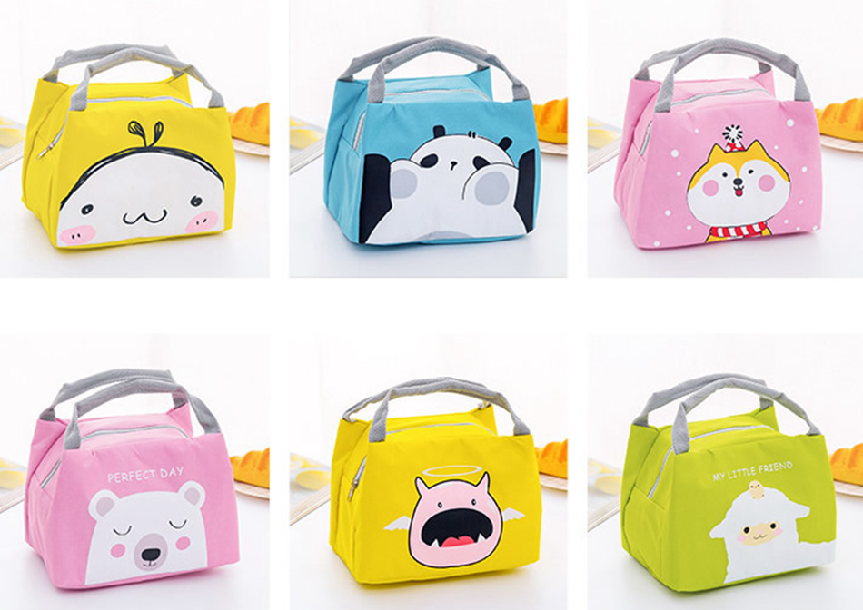 Cartoon Animal Unicorn Lunch Bags Girl Portable Waterproof Insulated Big Cold Canvas Picnic Totes Case Kids Women Thermal Box Functional Bags Luggage & Bags