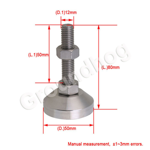 Image 2 - 4pcs Adjustable Feet Thread Dia M12x50mm Fixed Universal Leveling Stainless Steel feet foot for Machine Furniture 1.5 ton load