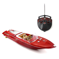 HQ2011 1 Large 4 channel Simulation Remote Speed Boat Airship Children's Model Toys Waterproof Electric RC Boat 15 20km/h
