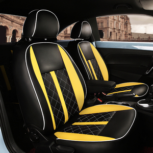 Image 5 - (2 przednie + 2 tylne) dostosowane pokrycie siedzenia samochodu wysokiej jakości skórzane pokrycie siedzenia samochodu dla Volkswagen Beetle akcesoria samochodowe stylizacji