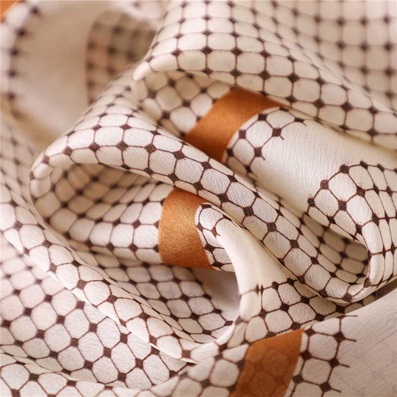 2019 Nuovo di Estate Sciarpe di Seta per Le Donne di Modo di Stampa Scialli E Impacchi Della Signora Hijab Foulard Bandana Femminile Pashmina Beach Stole