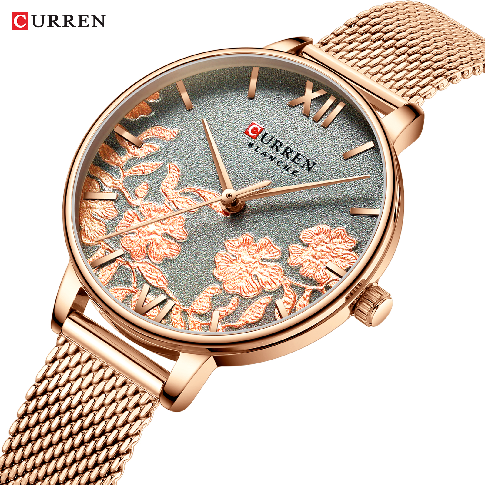 Image 3 - CURREN Women Watches Top Brand Luxury Stainless Steel Strap Wristwatch for Women Rose Clock Stylish Quartz Ladies Watch-in Women's Watches from Watches