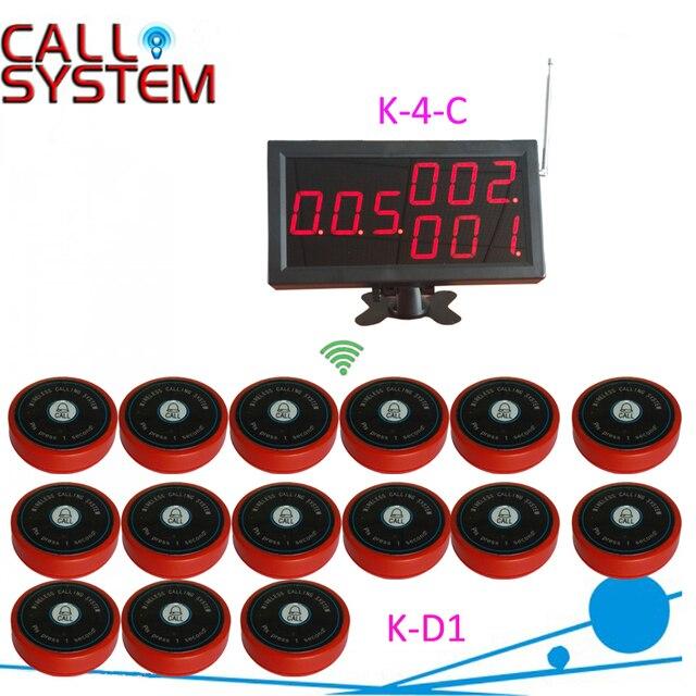 Беспроводной официант система вызова 1 компл. 1 экран монитора 15 колокол зуммер для hotel паб кафе