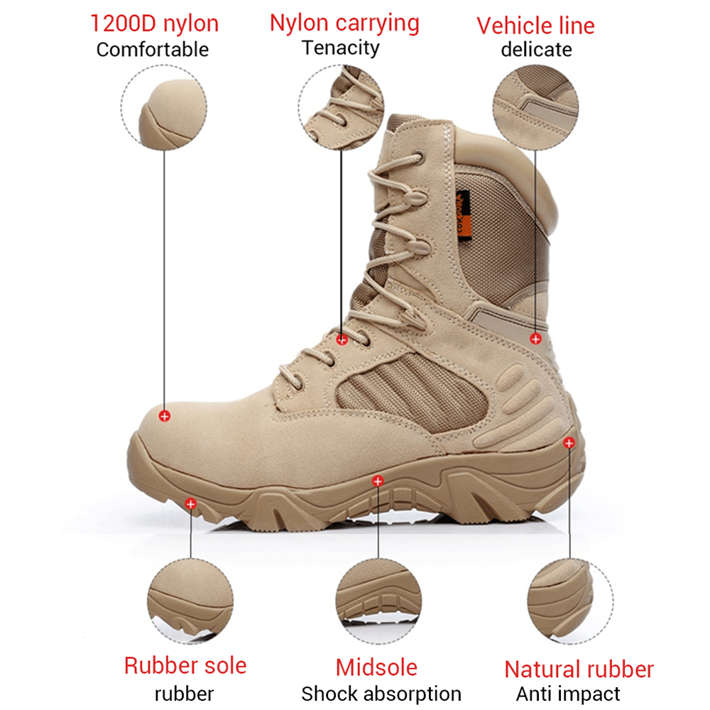 Image 5 - Motorcycle Boots High Ankle Racing Moto Boots Men Military Boots Quality Special Force Tactical Desert Combat Army Work Boots-in Motocycle Boots from Automobiles & Motorcycles