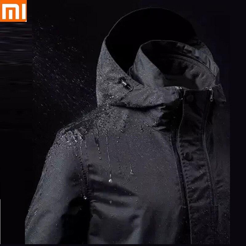 Xiaomi ULEEMARK Mid-length Travel Jacket Removable Multifunctional Storage Anti-Wind Waterproof Outdoor Climbing Coat Drop Ship