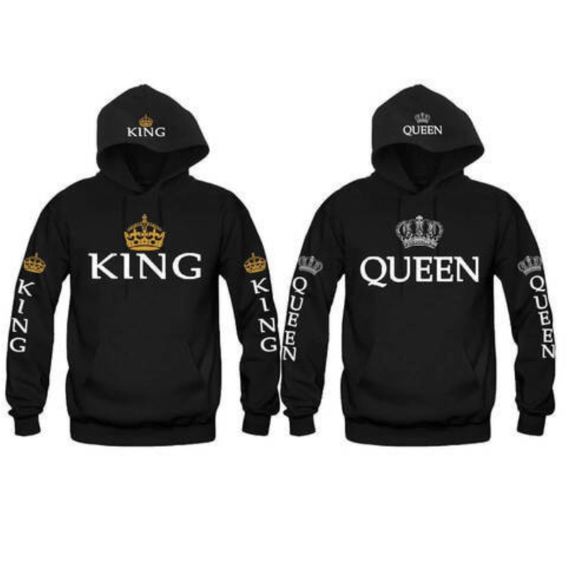 New Couple Matching Hoodie King and Queen Love Matching