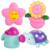 2016 Nuevo 4 Unids Animales Encantadores Juguetes Del Baño Del Bebé de Goma Suave Estrella de la flor Exprimir Sonido Chillón de Baño Bebé Juego Juguete de Vacaciones regalos