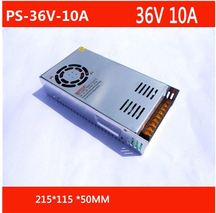 Livraison gratuite AC 110 - 240 V à DC 36 V 10A alimentation à découpage Converter avec câble d'alimentation PS-36V-10A