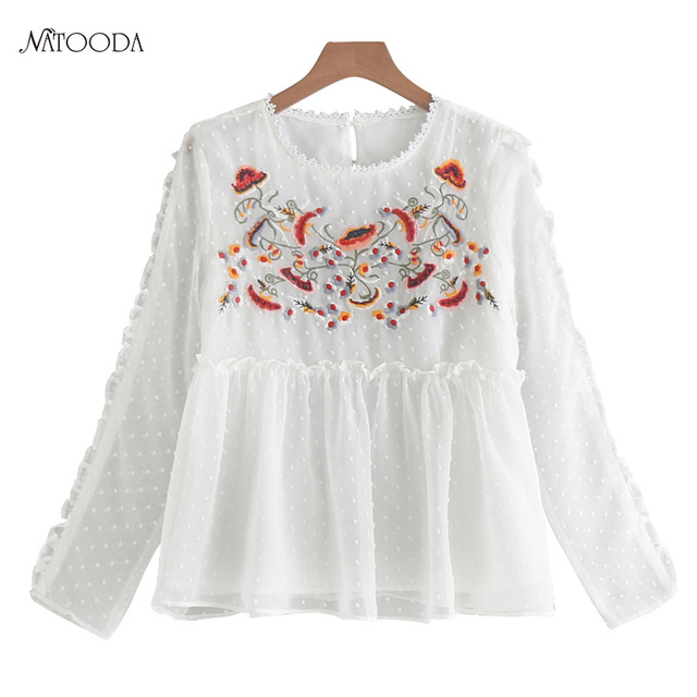 NATOODA Feminine Shirt Traditional Chinese Clothing Folklore Autumn ...