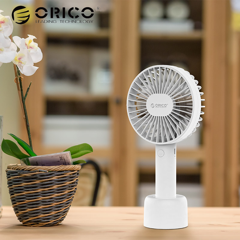 ORICO Portable Mini USB Fan Hand Adjustable 2000mAh Rechargeable Outdoor Office Clooer Desk USB Fan Quiet Travel Cooling Fan mini portable usb rechargeable hand warmer heater cartoon pig for travel outdoor