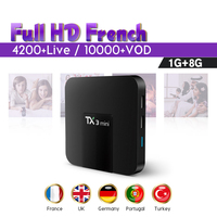 IPTV France Arabic Box IPTV Subscription TX3 mini Android Tv Box S905W Quad Core Full HD Live IPTV Portugal Turkey SUBTV Code