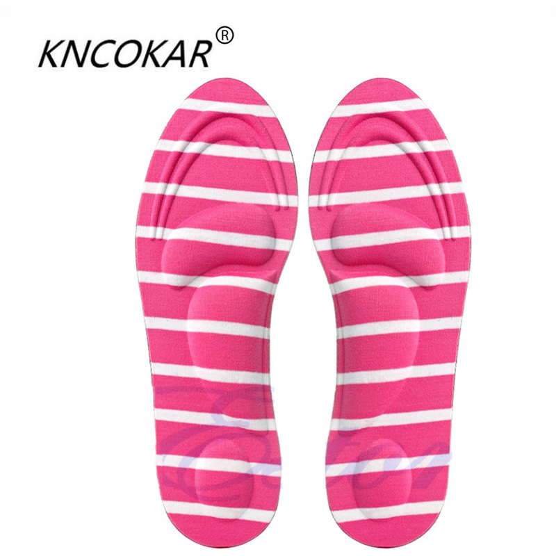 KNCOKAR 1Pair 3D Sponge Soft Insole Arch Support Orthotic Comfortable Massage High Heels Sponge Anti Pain Shoe Insoles Cushions 2016 1 pair large size orthotic arch support massaging silicone anti slip gel soft sport shoe insole pad for man women