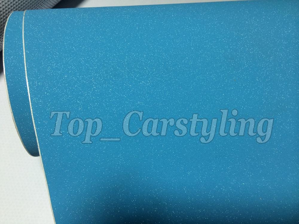SKY BLUE MATTE METALLIC CAR WRAP GLITTER VINYL WRAP FORSTLY (3)