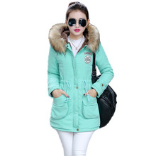 New Long Parkas Female Womens Winter Jacket Coat Thick Cotton Warm Jacket Womens Outwear Parkas Plus Size Fur Coat