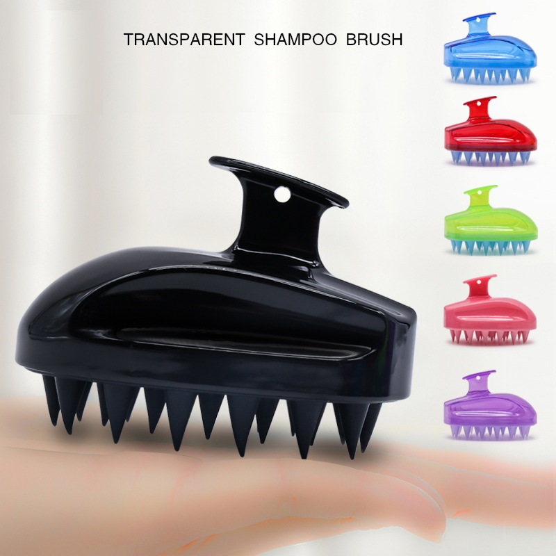 1pc Comfortable Silicone Shampoo Scalp Massage Brush Hair Washing Comb Body Bath Spa Slimming Personel Health
