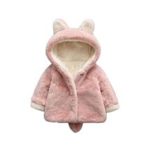 WYNNE GADIS Autumn Baby Girls Cute Rabbit Floral Hooded