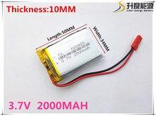 Free shipping Polymer battery 2000 mah 3.7V 103450 smart home MP3 speakers Li-ion battery for dvr,GPS,mp3,mp4,cell phone,speaker