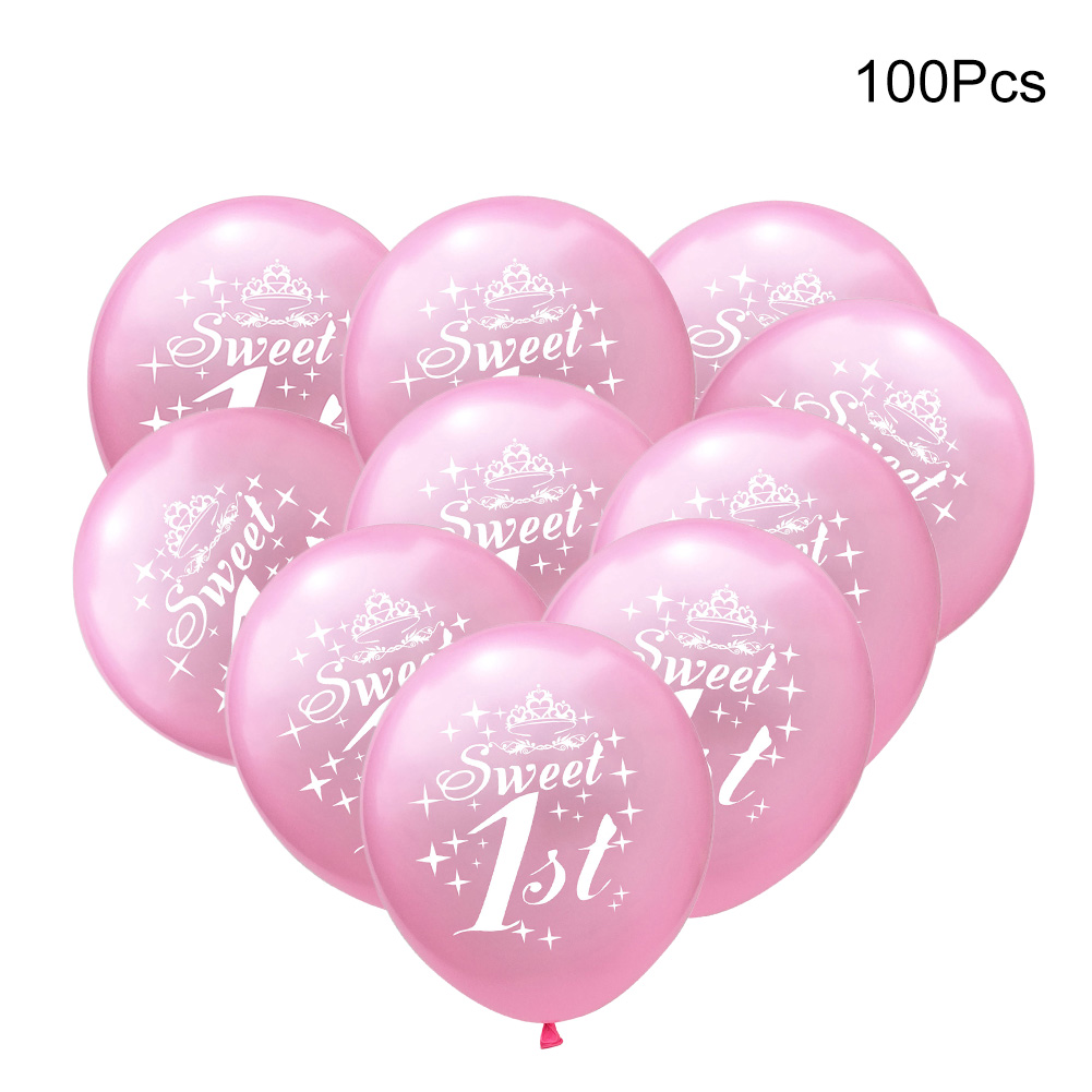 100 Babies 1 Year Old Party Decorative Balloons