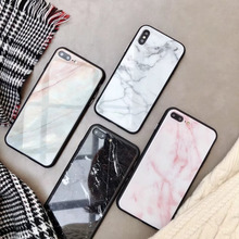 Tempered Glass Case for iphone XS Max luxurious High Hardness Marble XR X 6 6S 7 8 Plus Cover