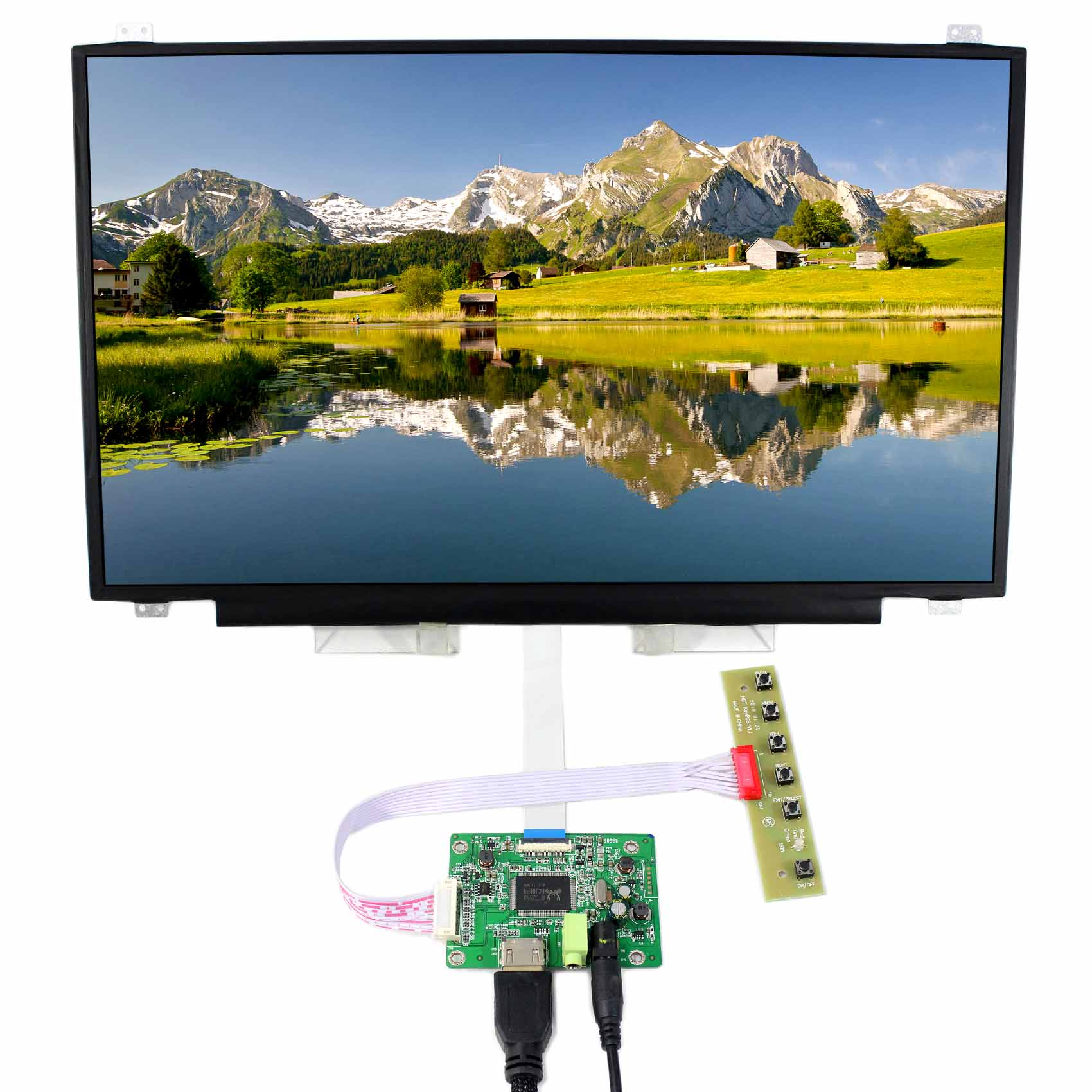 HDMI LCD Controller Board VS-RTD2556H-V1 with 17.3inch N173HCE-E31 1920x1080 EDP IPS LCD Screen HDMI LCD Controller Board VS-RTD2556H-V1 with 17.3inch N173HCE-E31 1920x1080 EDP IPS LCD Screen