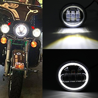 New Motorcycle fog light For Harley 4 1/2 4.5 Led Fog Lights for Softail FLSTN Touring Electra Glide/Road King/Tour Glide