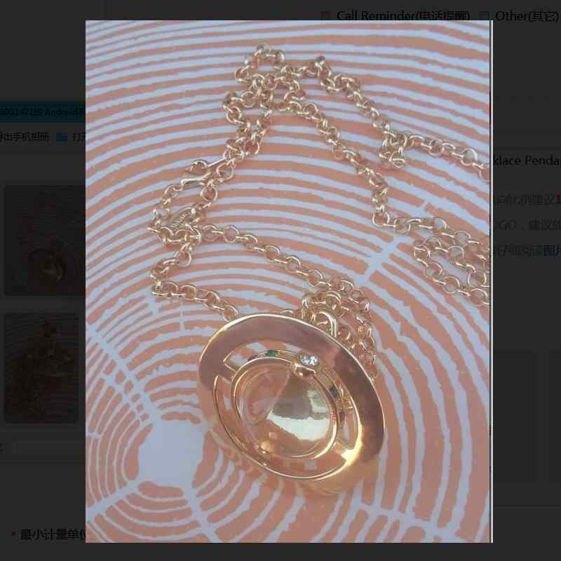 Zhaoxia ジュエリーサイズ 4.5*3.5 センチメートルビビアンゴールデン大ガラスビーズネックレスペンダント