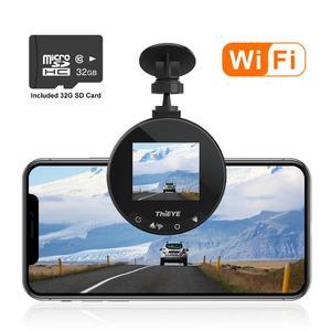 Image 2 - ThiEYE Safeel Zero + kamera na deskę rozdzielczą WiFi wideorejestrator samochodowy Real HD 1080P 170 szeroki kąt z trybem parkowania g sensor Car multi angle camera