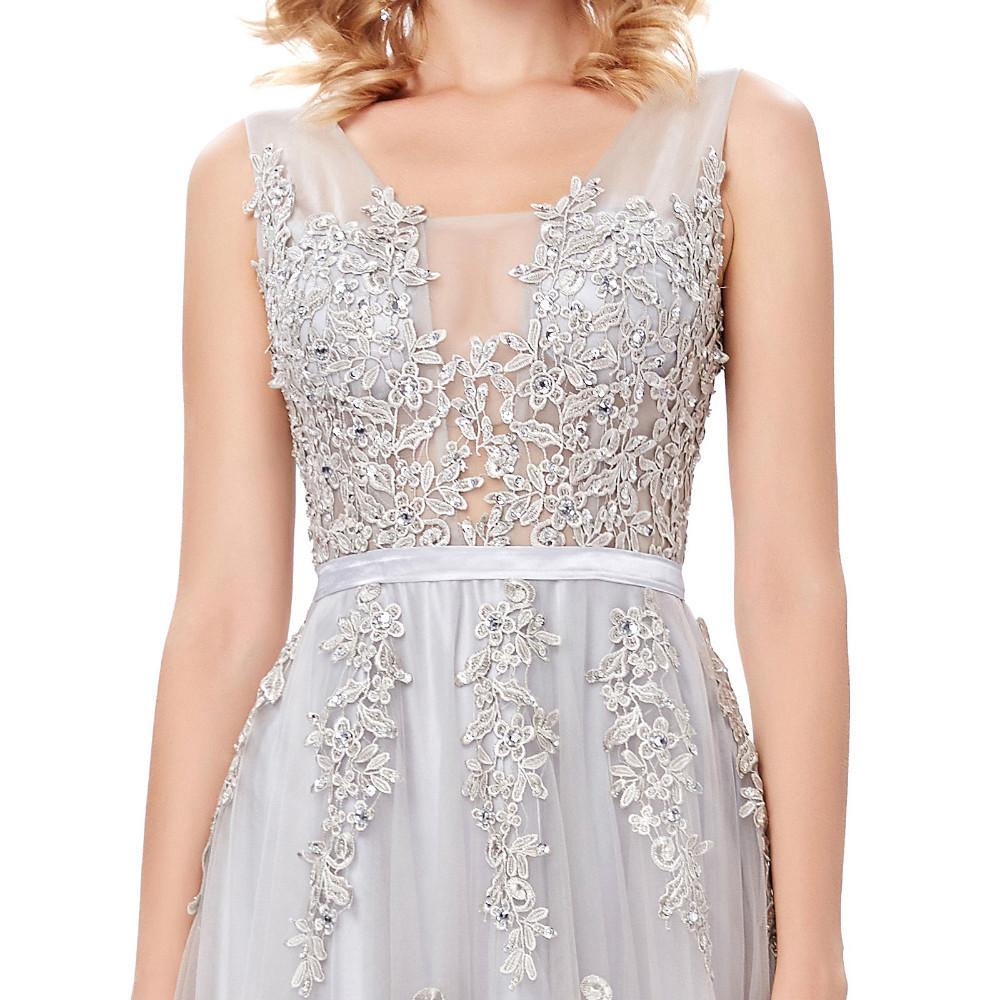 Grace Karin Tulle Appliques Celebrity Prom Dress Sexy V Back Sleeveless Long Royal Blue Robes De Soiree 2017 Longue Prom Dresses 25