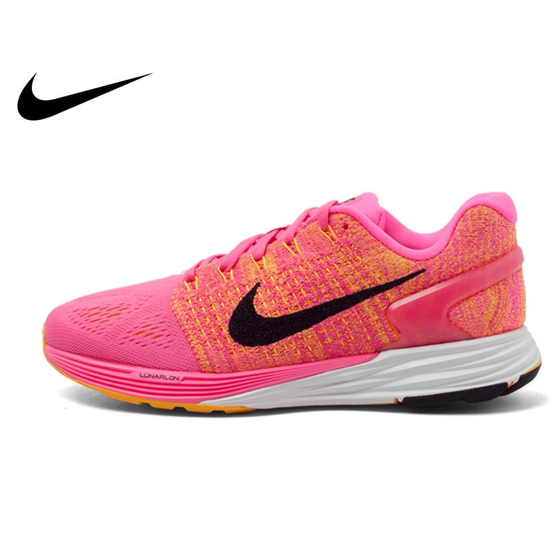 wholesale dealer ab30c f6e59 US $193.65 32% OFF Original NIKE Breathable WMNS NIKE LUNARGLIDE 7 Women's  Running Shoes Sneakers Outdoor Walking Jogging Ladies Athletic 747356-in ...
