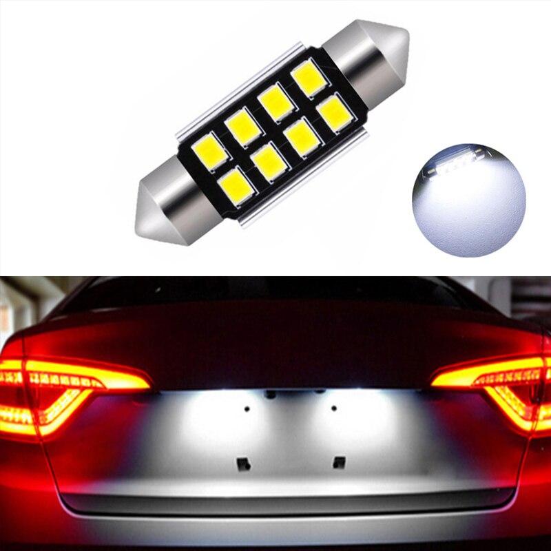 BMW E46 E60 E90 X5 X6 12 SMD 6000k White LED Festoon Number Plate Light Bulbs